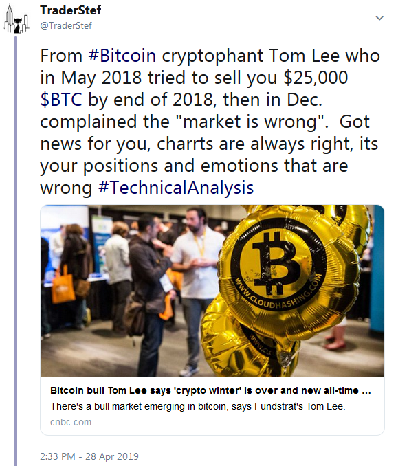 Tom Lee BTC Bitcoin 25k in 2018 Call