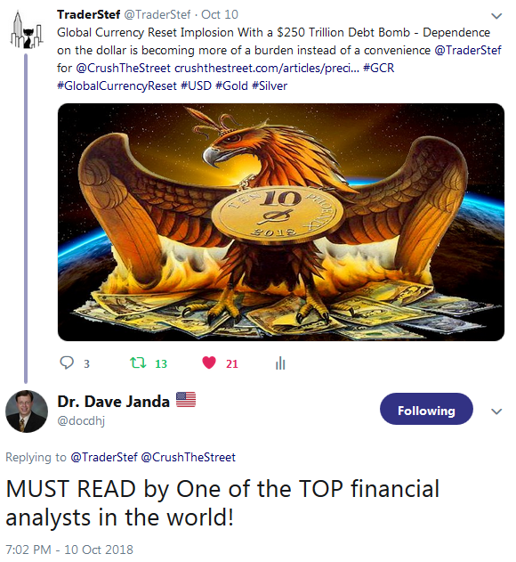 Testimonial from Dr Dave Janda - TraderStef is one of the top Financial Analysts in the world October 2018