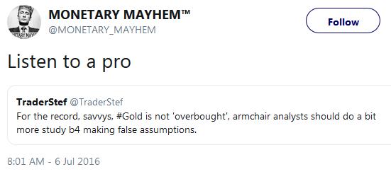Testimonial from Monetary Mayhem - Listen to a Pro July 2016