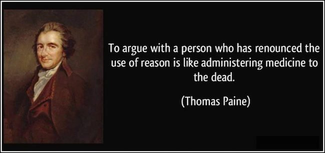 Thomas Paine on Resoning with the Dead