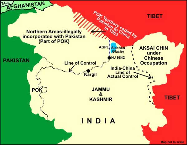 Kashmir and Jammu Map