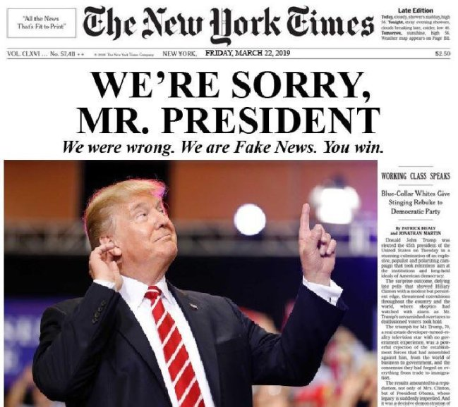 NYT We Are Sorry Mr President