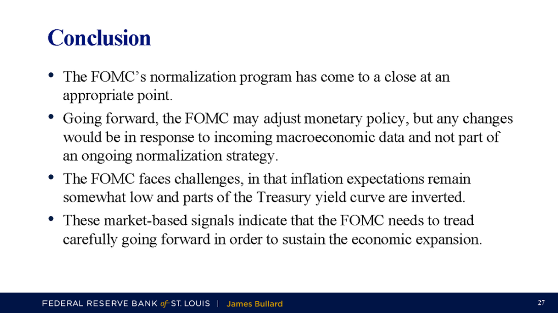 Bullard Conclusions on TaperCaper Fed Pause