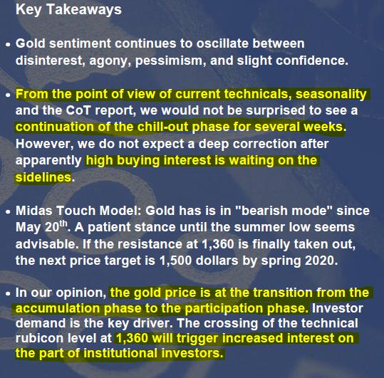 In Gold We Trust 2019 Report Key Takeaways