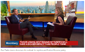 """Paul Tudor Jones on Bloomberg - """"Gold will scream"""" higher"""