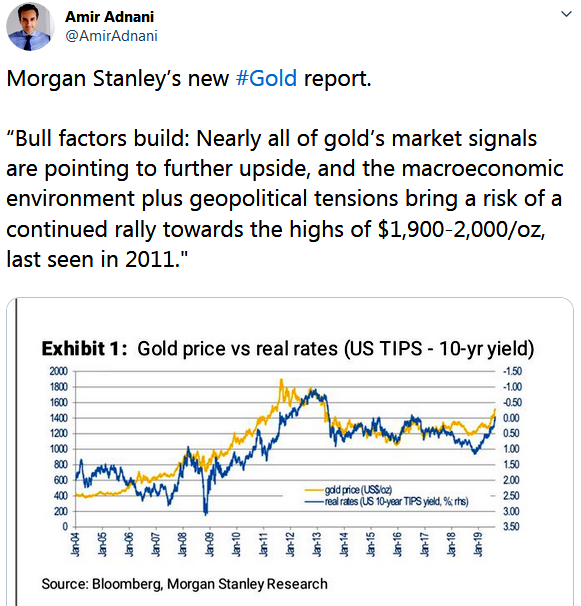 Admir Adnani Morgan Stanley Gold Report Real vs Interest Rates