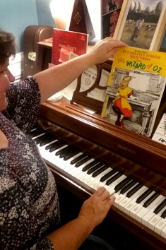 Wizard of Oz Music Sheet on the Piano