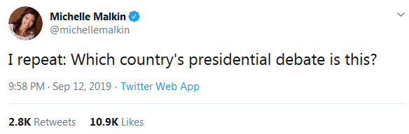 Michelle Malkin Twitter Which Country's Presidential Debate Is This