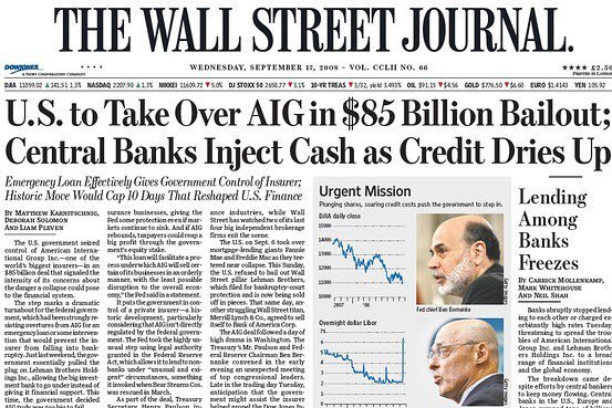 WSJ September 2008 Front Page