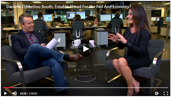 Danielle DiMartino Booth on Hedgeye - Trouble Ahead For the Fed And Economy Dec. 10 2019