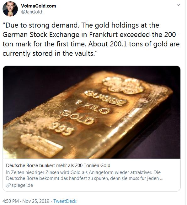 JanGold on Twitter German Stock Exchange Gold Nov. 25