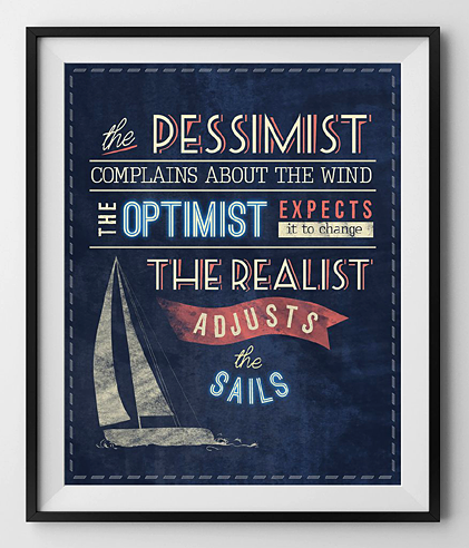 William Arthur Ward - Pessimist Optimist Realist