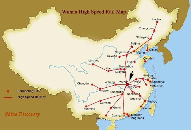 Wuhan China is a Main Transportation Hub
