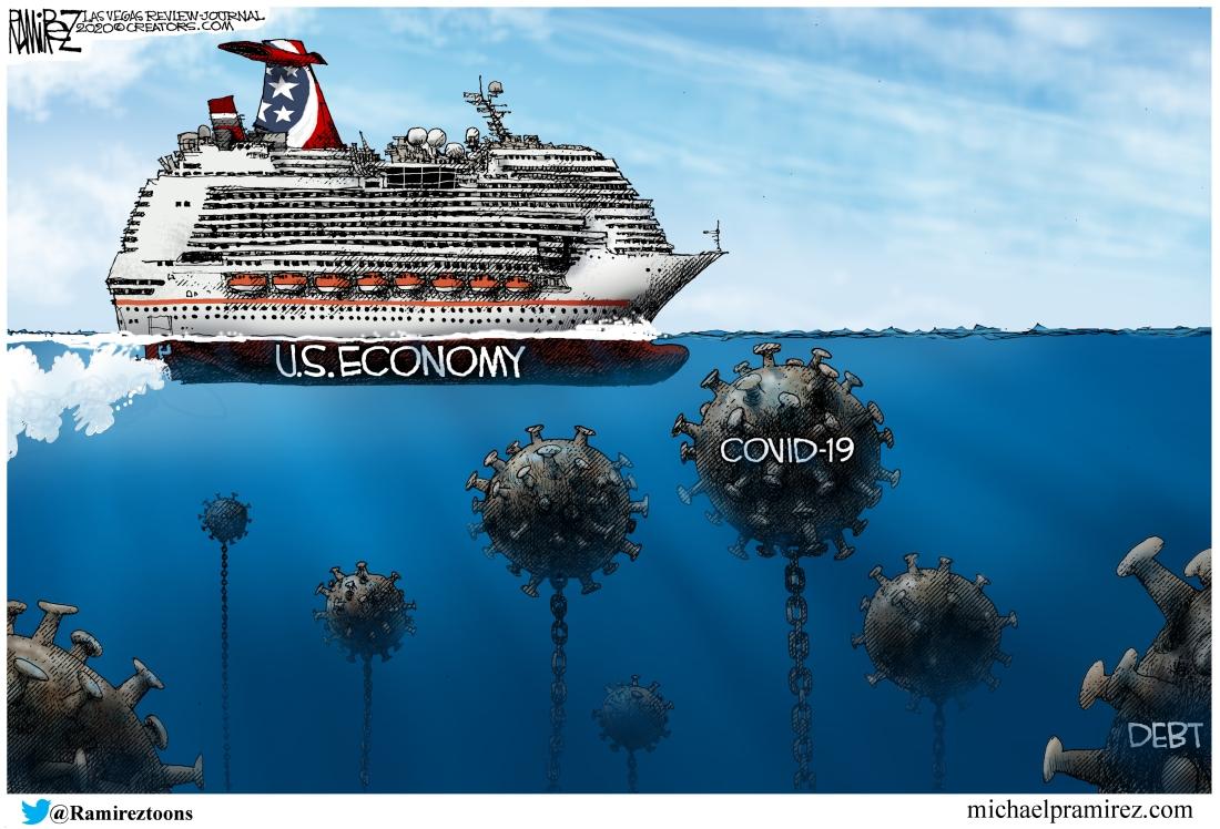 Coronavirus COVID-19 Pandemic vs. US Economy - Toons by Michael Pramirez
