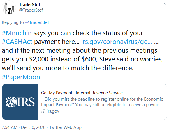 IRS CASH Act Acceess - Get My Payment