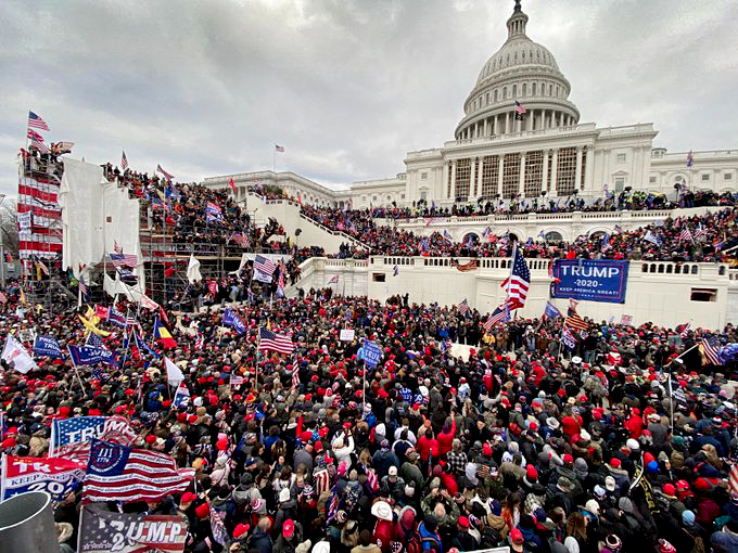 Save America March Surrounds Capitol Hill Jan. 6, 2021