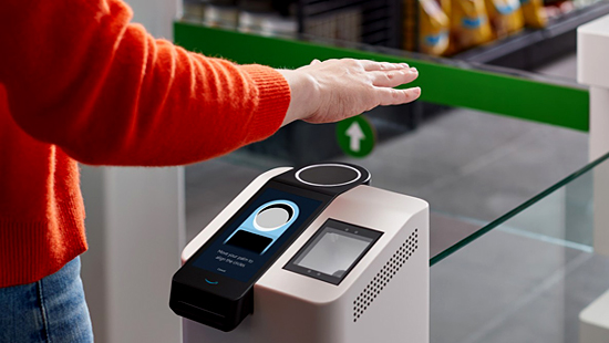 Amazon Palm Scanner at Whole Foods