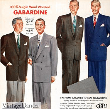 1953 Virgin Wool Men's Suit Advertisement