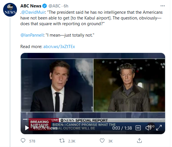 ABC News - Obviously, Biden's Presser Does Not Square With Reporting on the Ground - Aug. 20