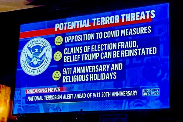 DHS Terrorism Threat Advisory Aug. 13, 2021
