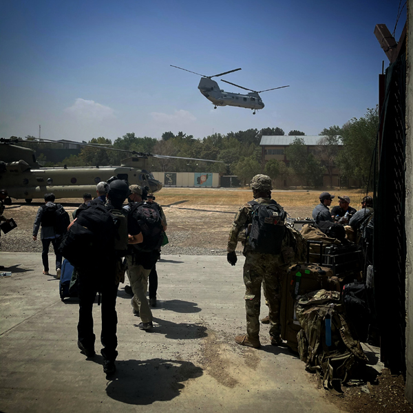 U.S. Embassy Evacuation in Kabul, Afghanistan